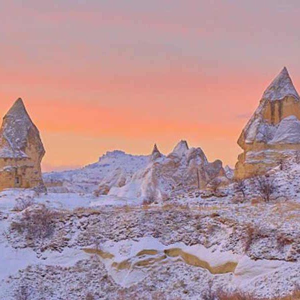 Cappadocia snow