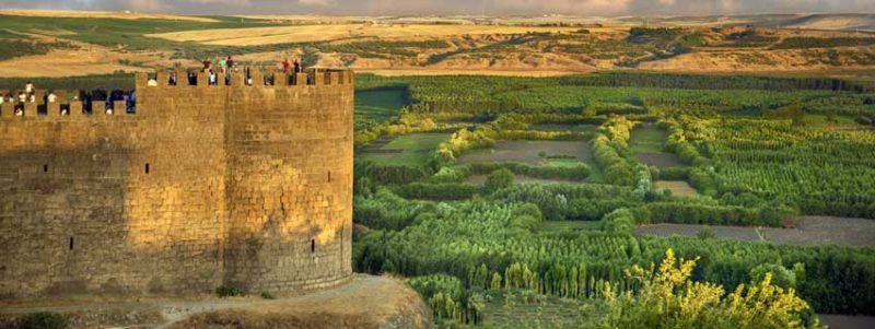Diyarbakir walls of the city and surrounding gardens